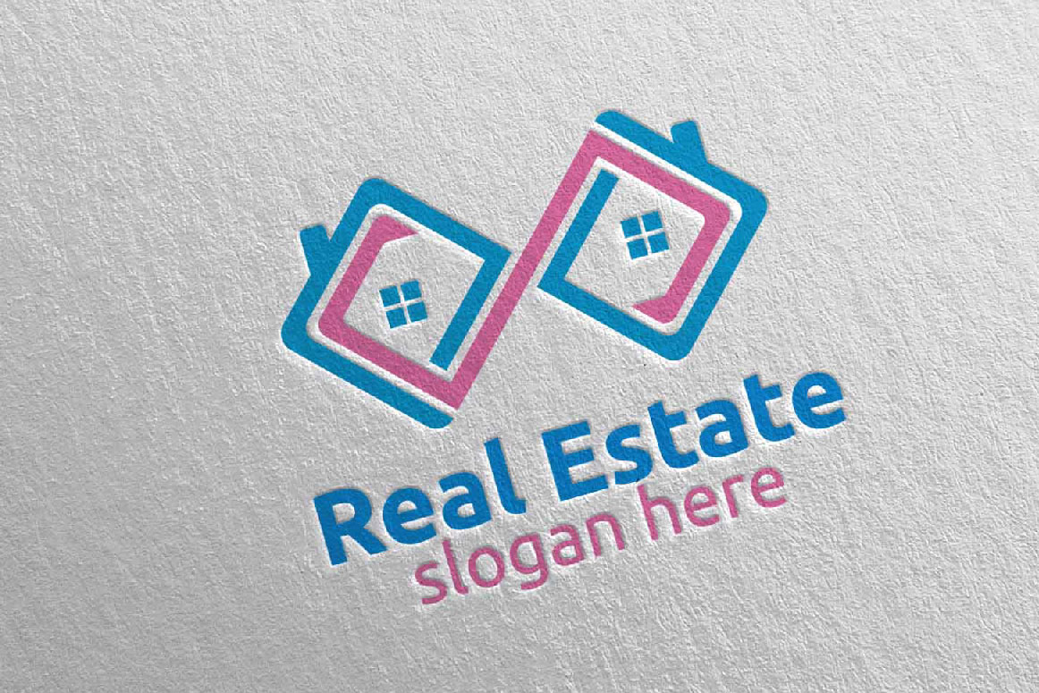 Real Estate Infinity Logo Design 38 example image 2