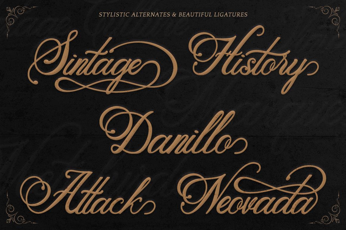 Metalurdo Calligraphy Font example image 3