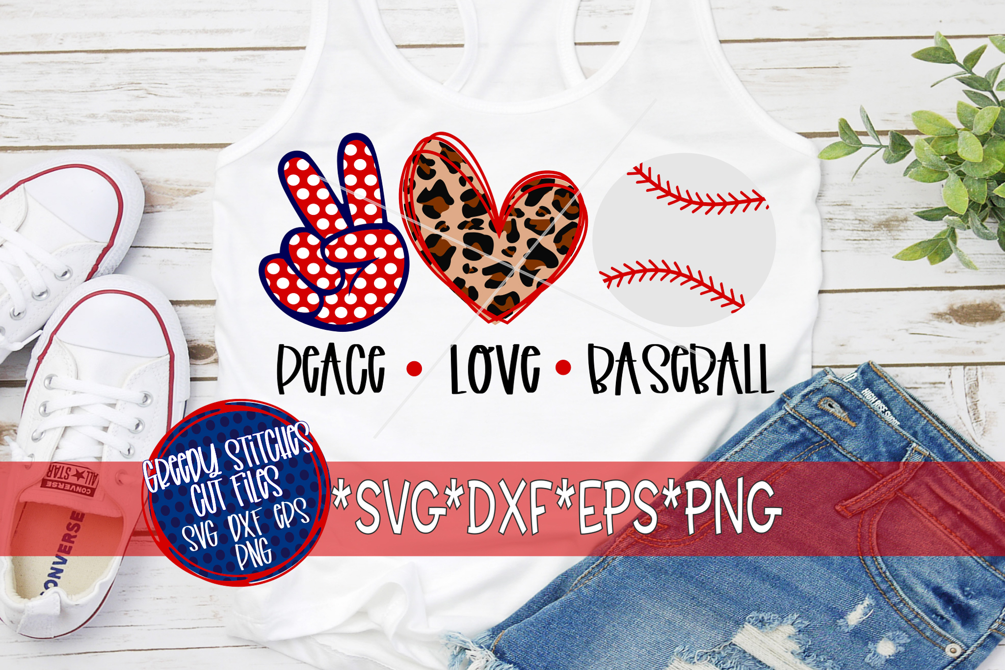 Download Peace Love Baseball SVG, DXF, EPS, PNG Files