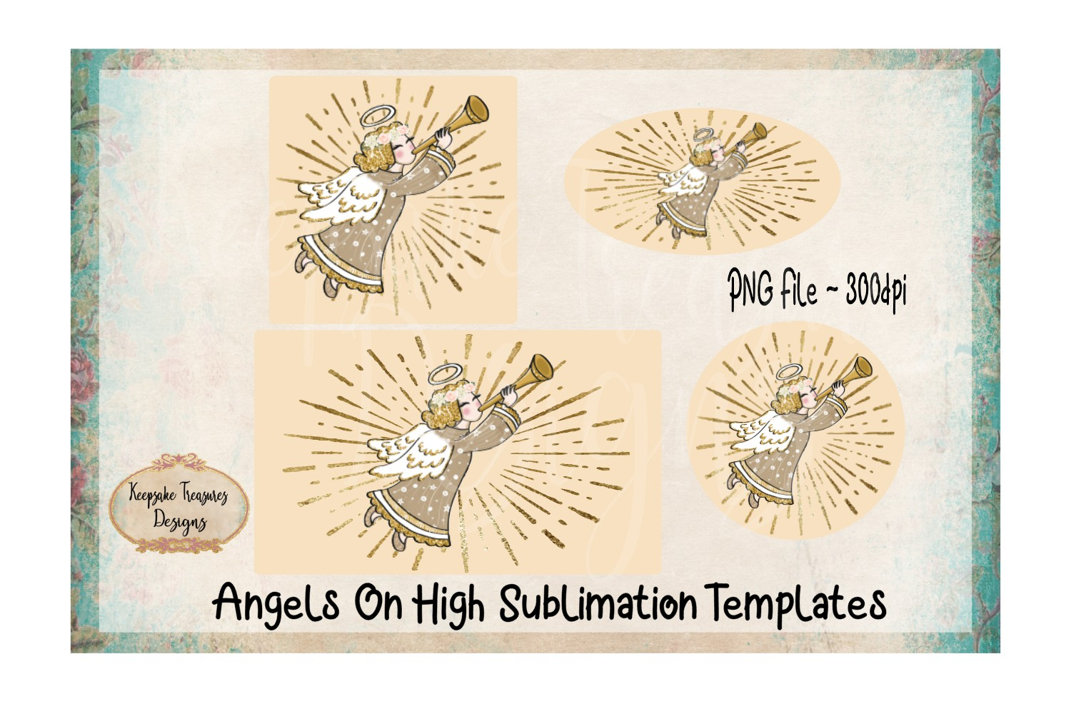 Angels On High Sublimation Template Set example image 1