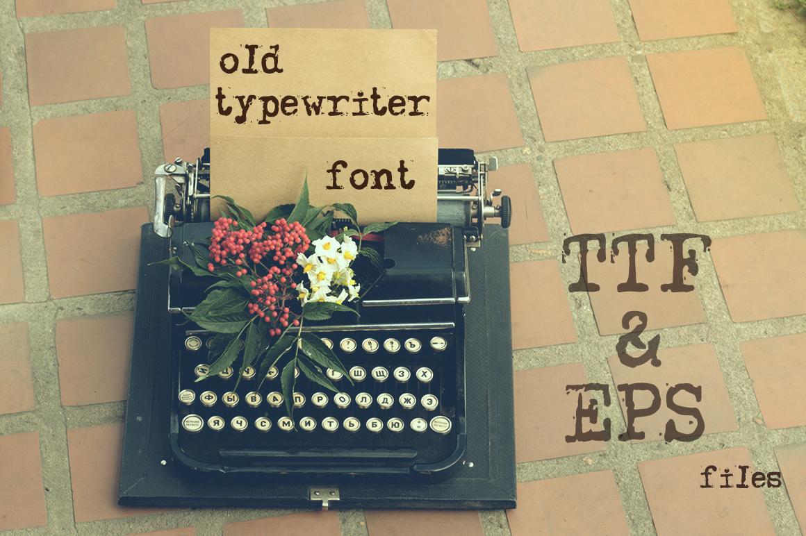 Old typewriter font example image 2