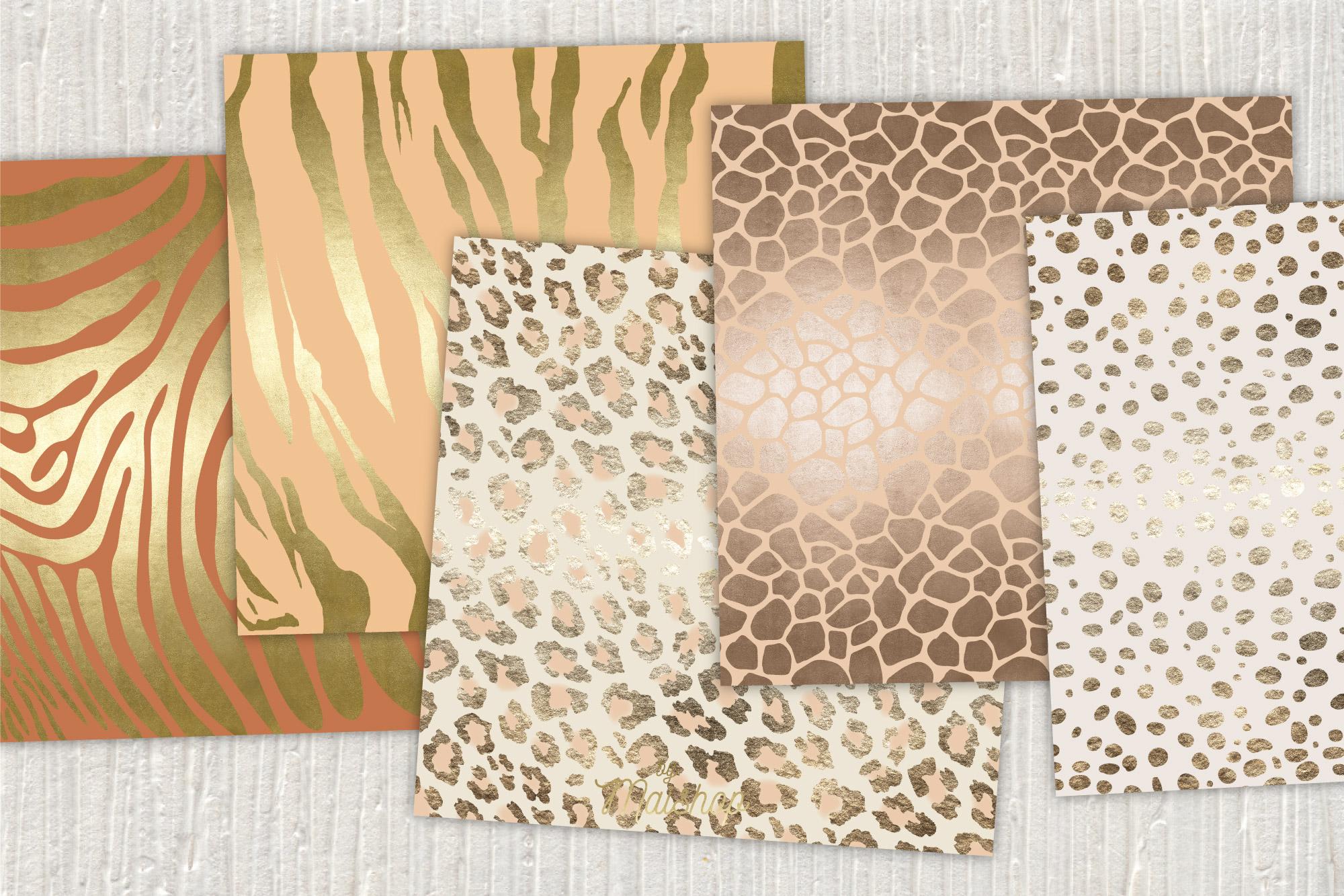 "Digital Paper Pack ""Africa Skins"" Set 03 example image 2"
