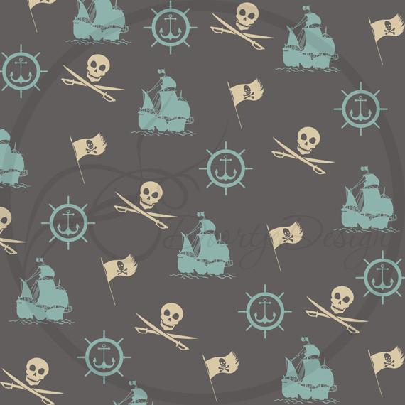 Pirates Digital Paper Pack example image 3