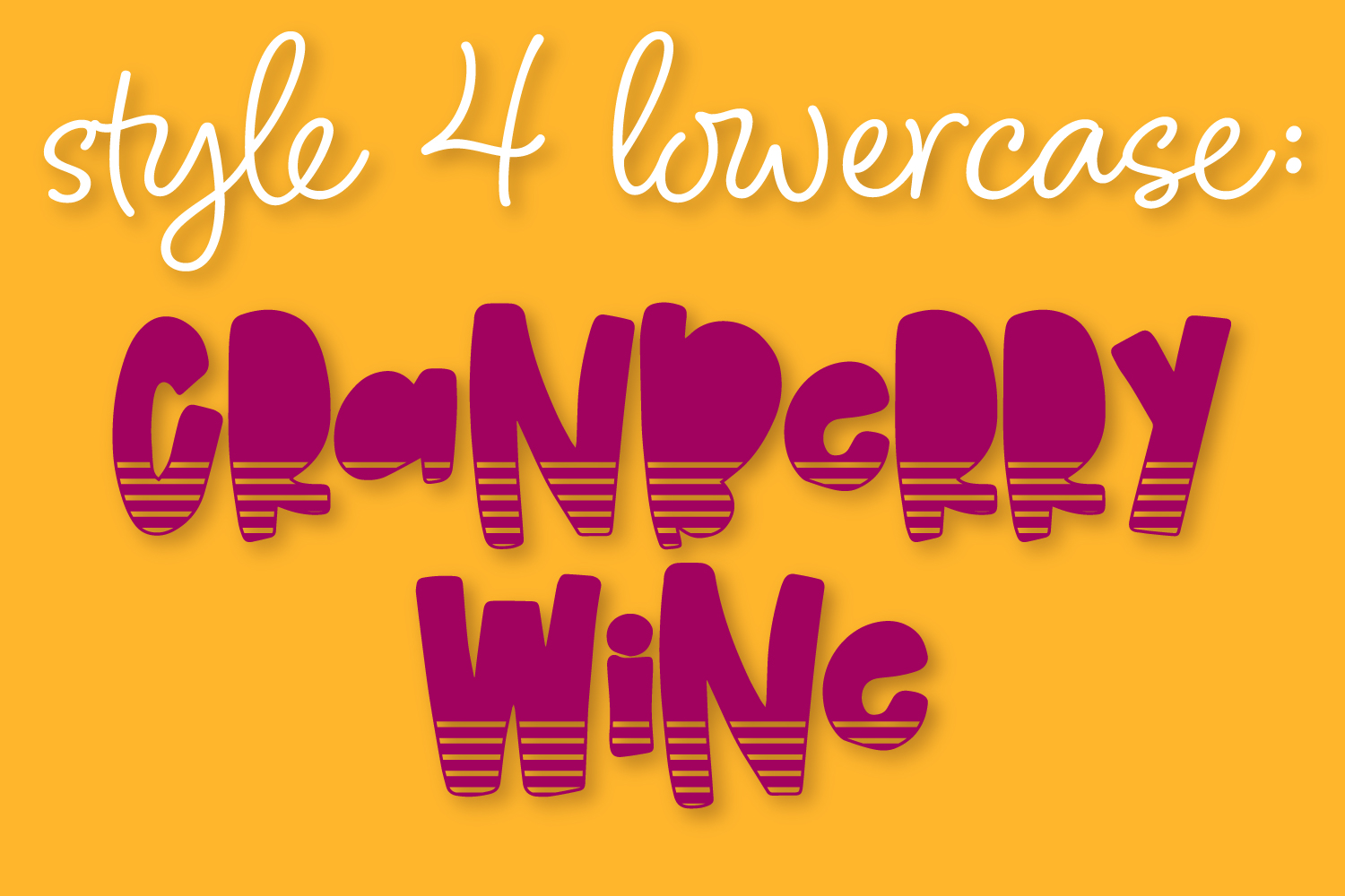 Cranberry Wine - A Striped Font Family of 6 New Fonts! example image 5