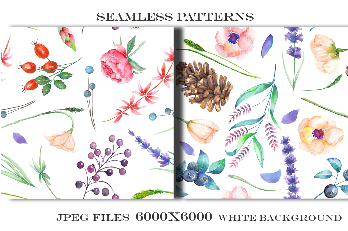 Forest and lavender Patterns example image 4