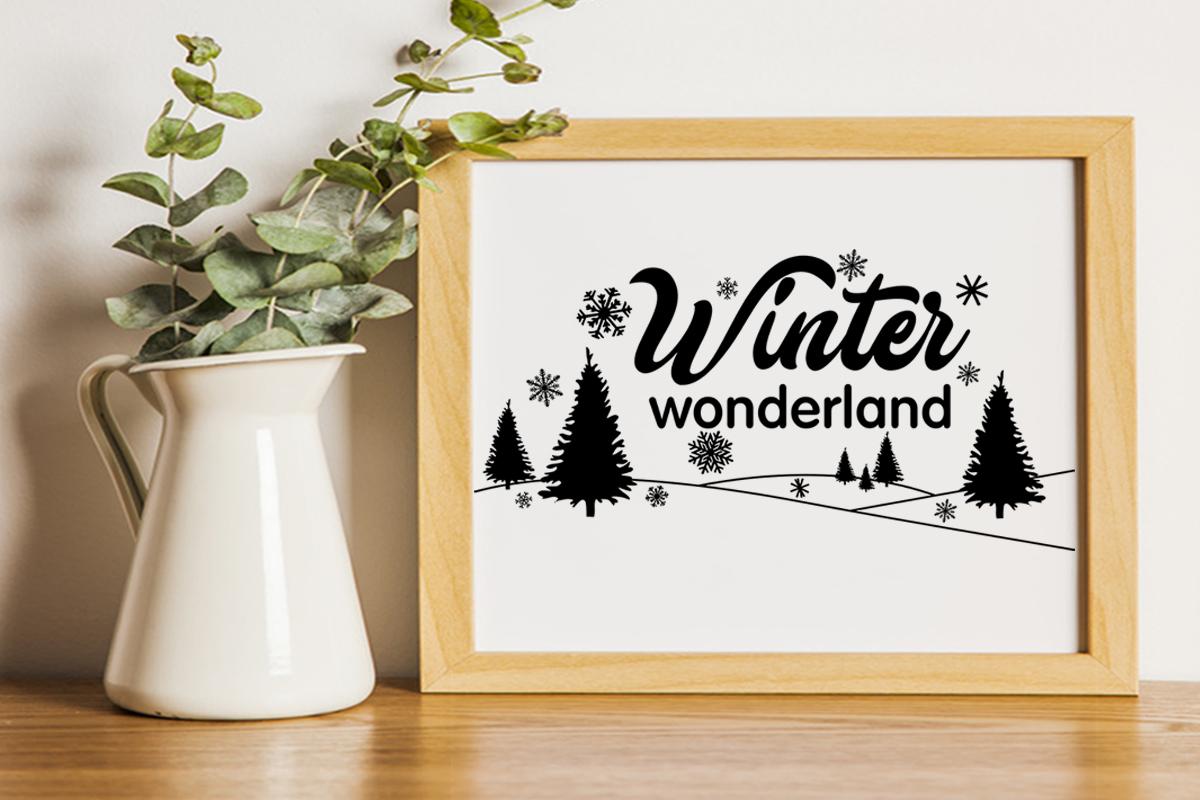 Christmas svg Winter wonderland svg Winter svg Snowflake svg example image 4