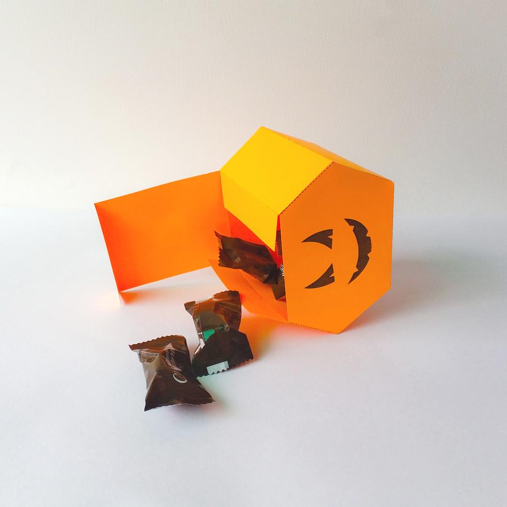 DIY Pumkin favor - 3d papercraft example image 5