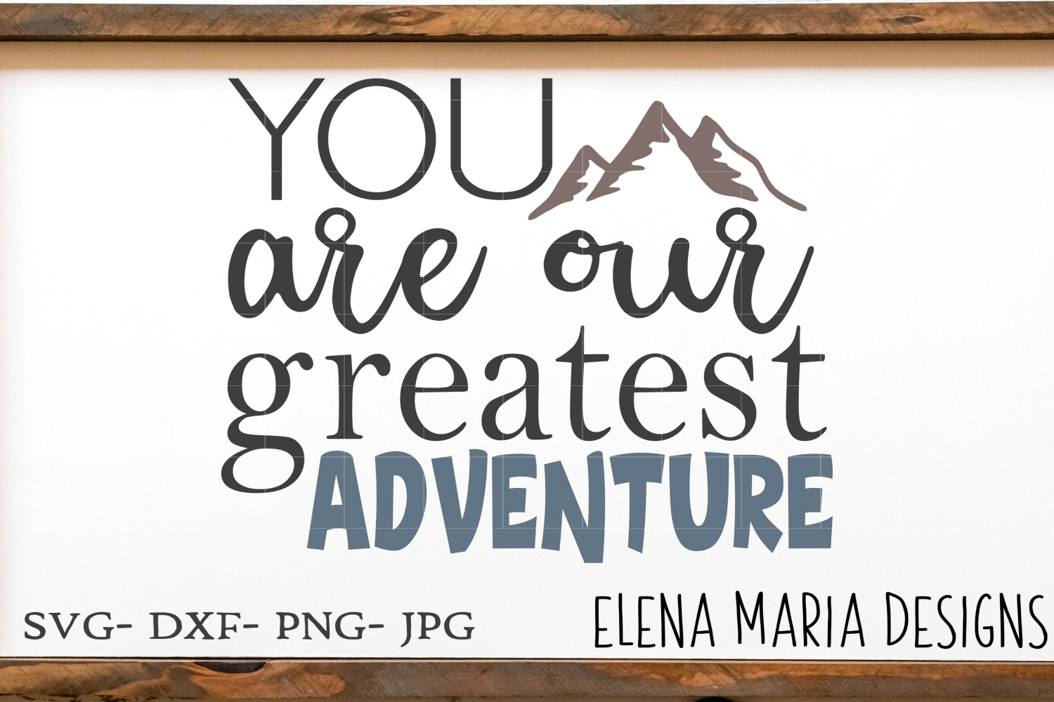 Baby SVG Cut File, You Are Our Greatest Adventure SVG, PNG example image 2