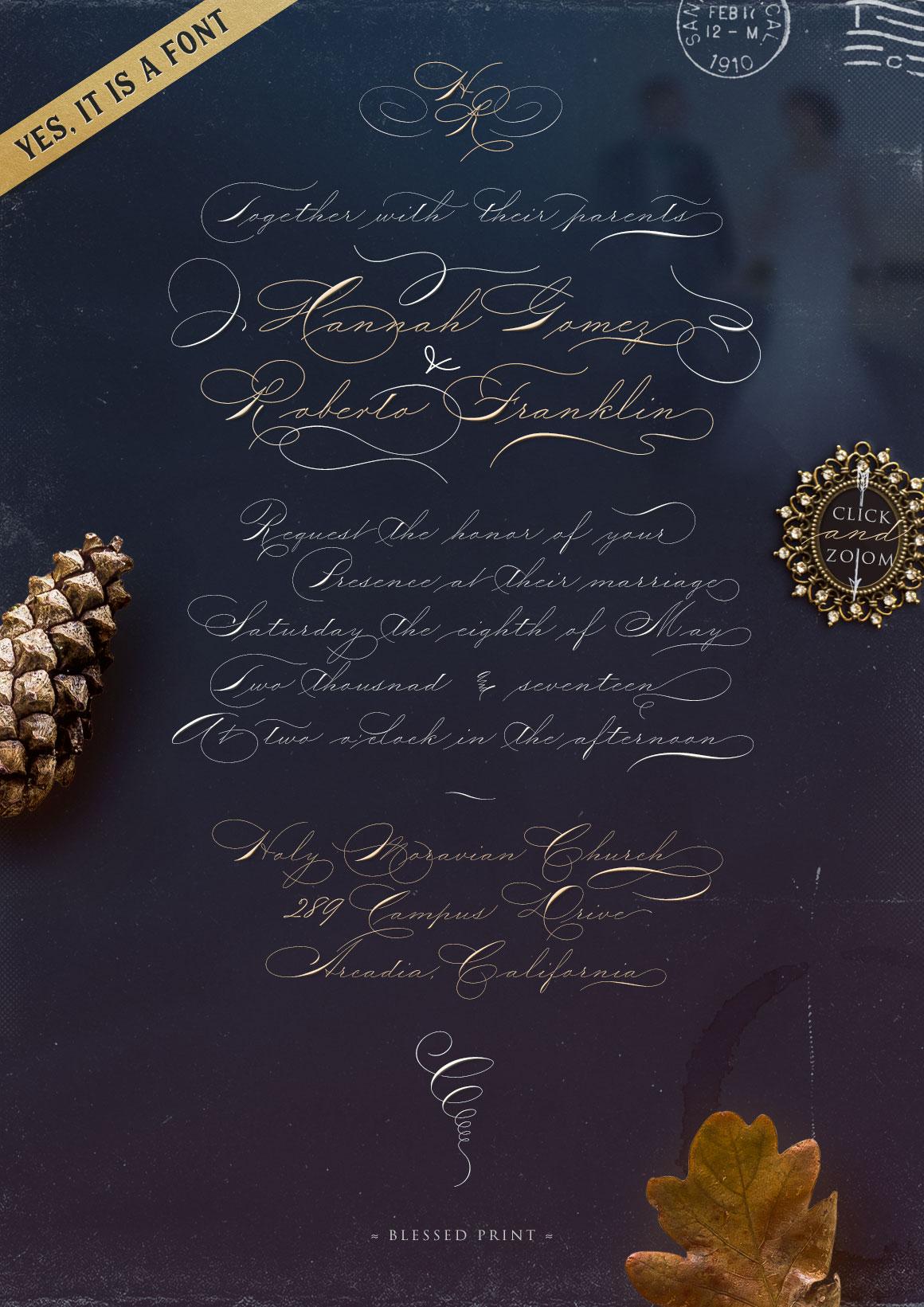 The Wedding Script & Invitation set example image 3
