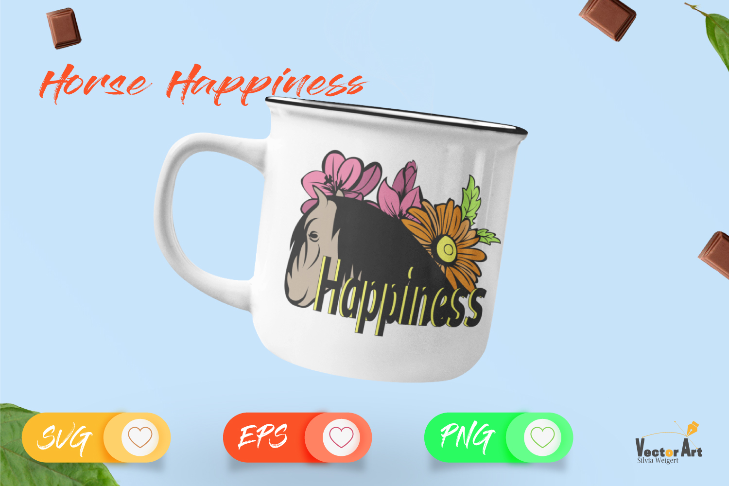 Horse Happiness - Cut File 2 Versions example image 4
