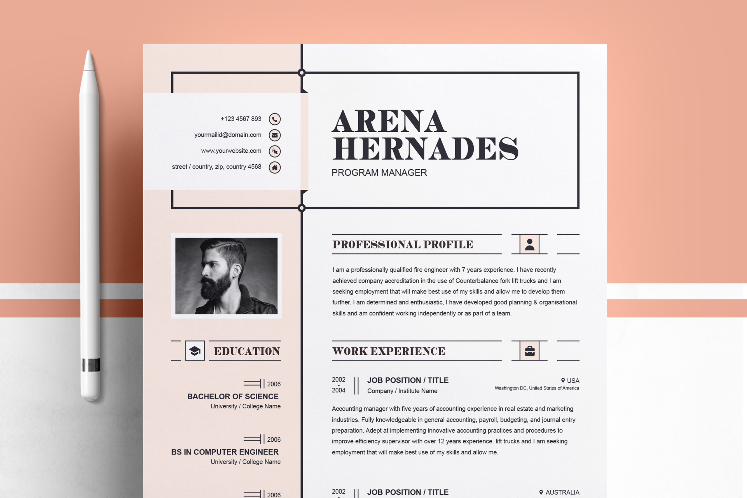 Modern Resume Template example image 1