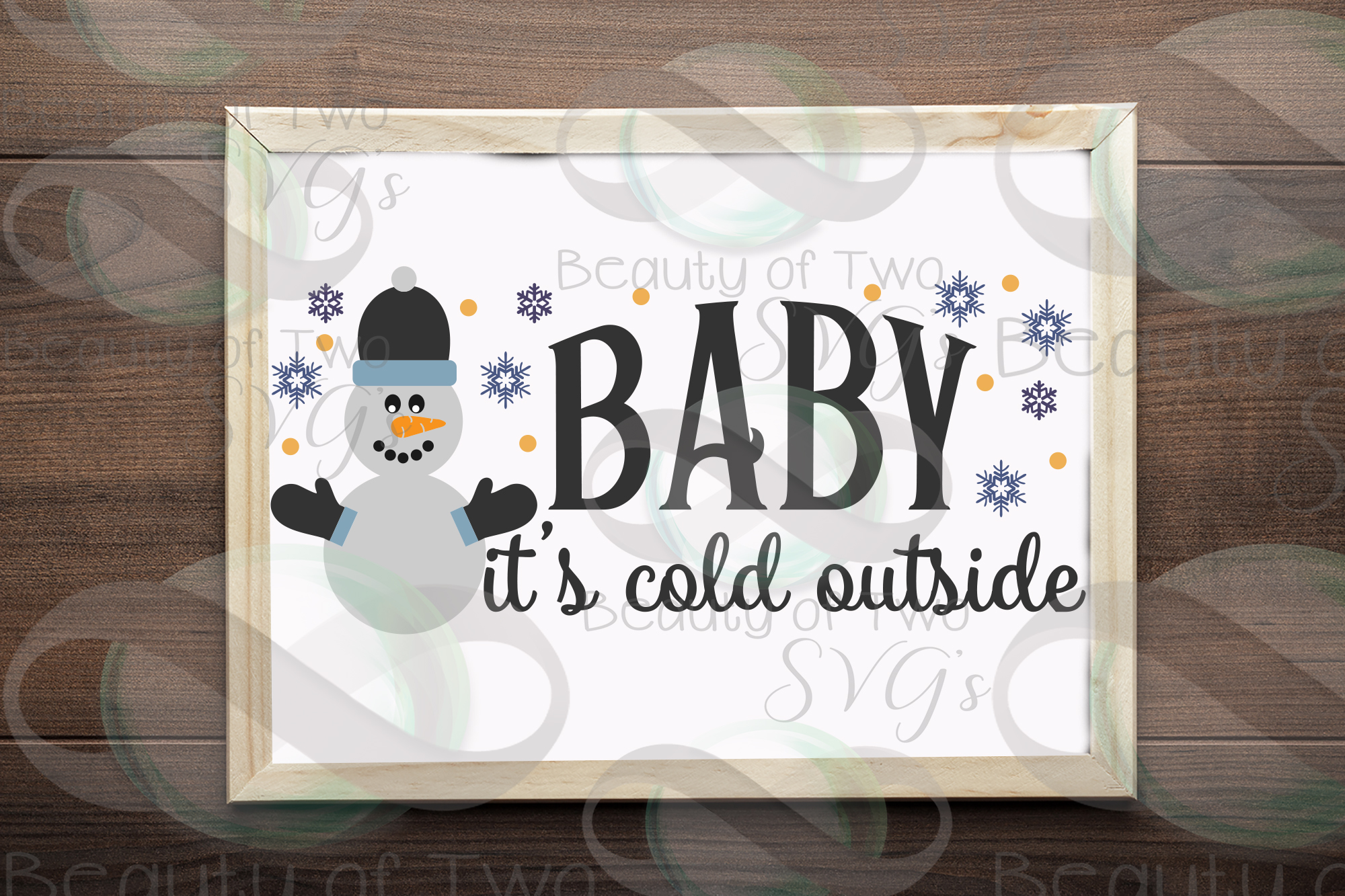 Snowman svg, Baby it's Cold Outside svg, Winter svg sign example image 2