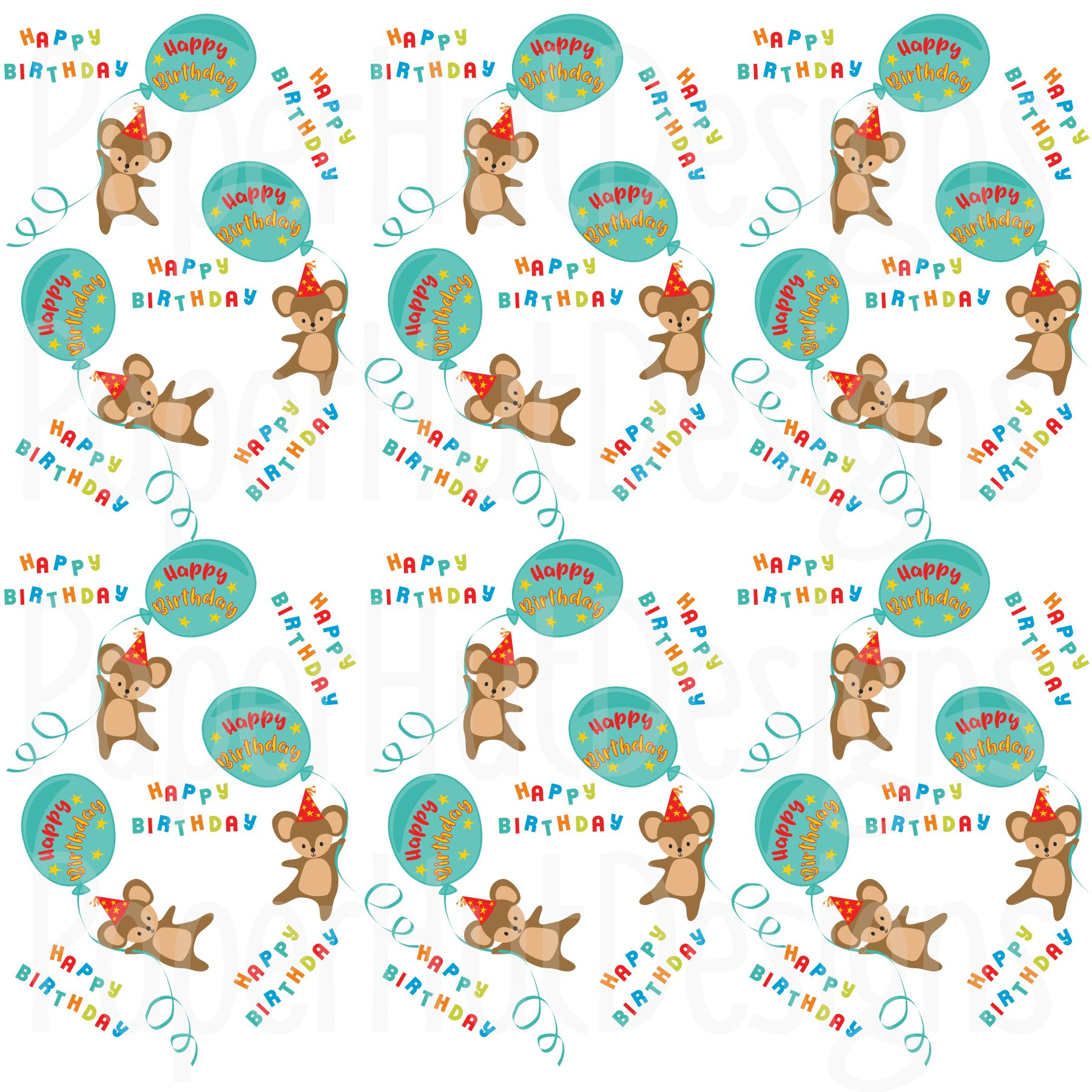 Birthday Clipart and Digital Papers Bundle example image 3
