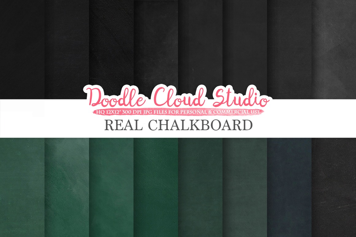 Real Chalkboard digital paper, Green / Back chalkboard Backgrounds, dirty / clean schoolboard textures, Instant Download, Commercial Use example image 2
