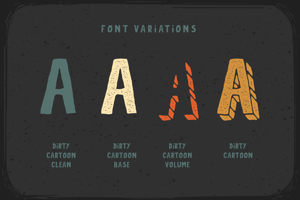 Dirty Cartoon font example image 4