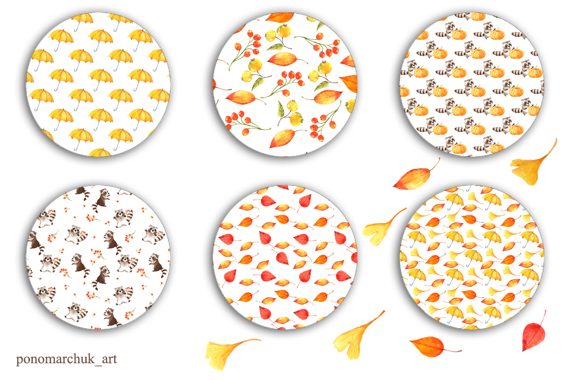 Autumn falling leaves example image 9