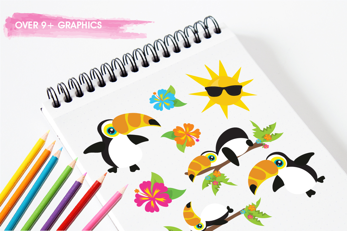 Hello Summer graphic and illustrations example image 5