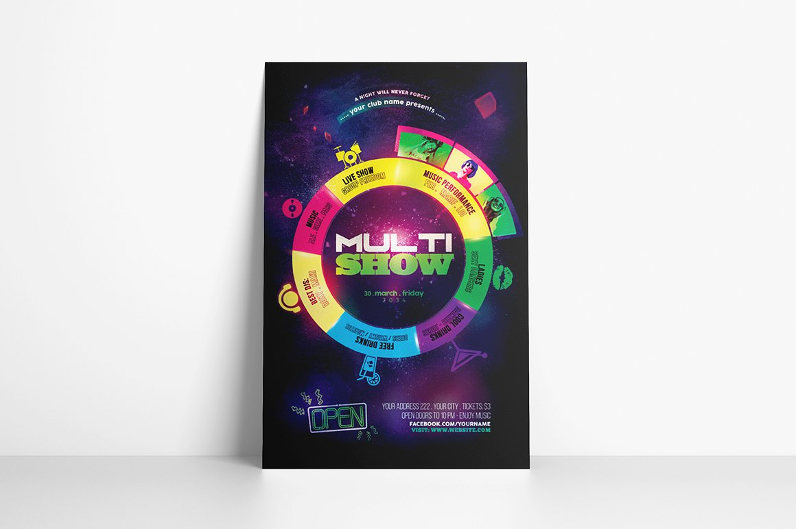 Multi Show Flyer Template example image 2