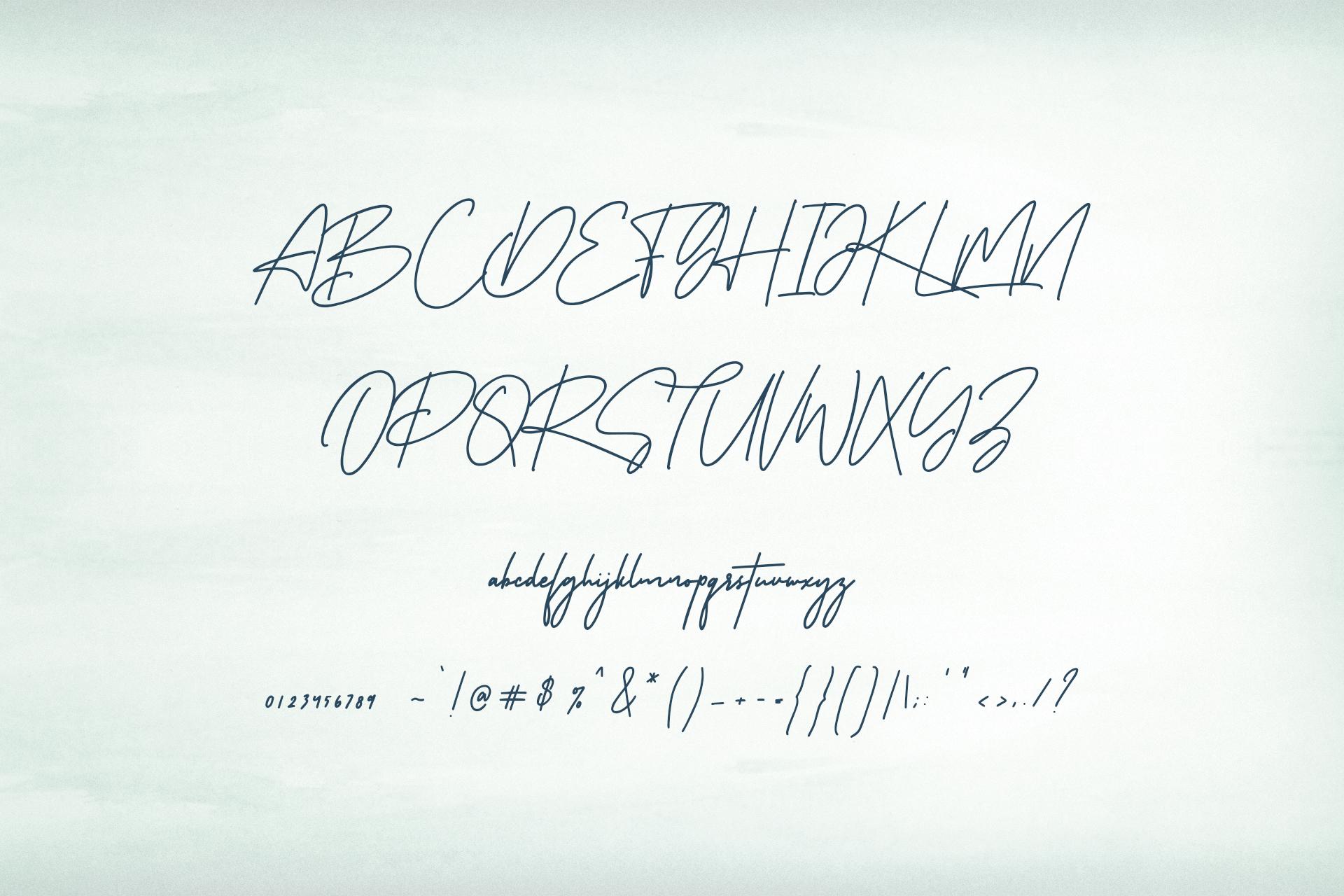 Riverstar Signature Font example image 9