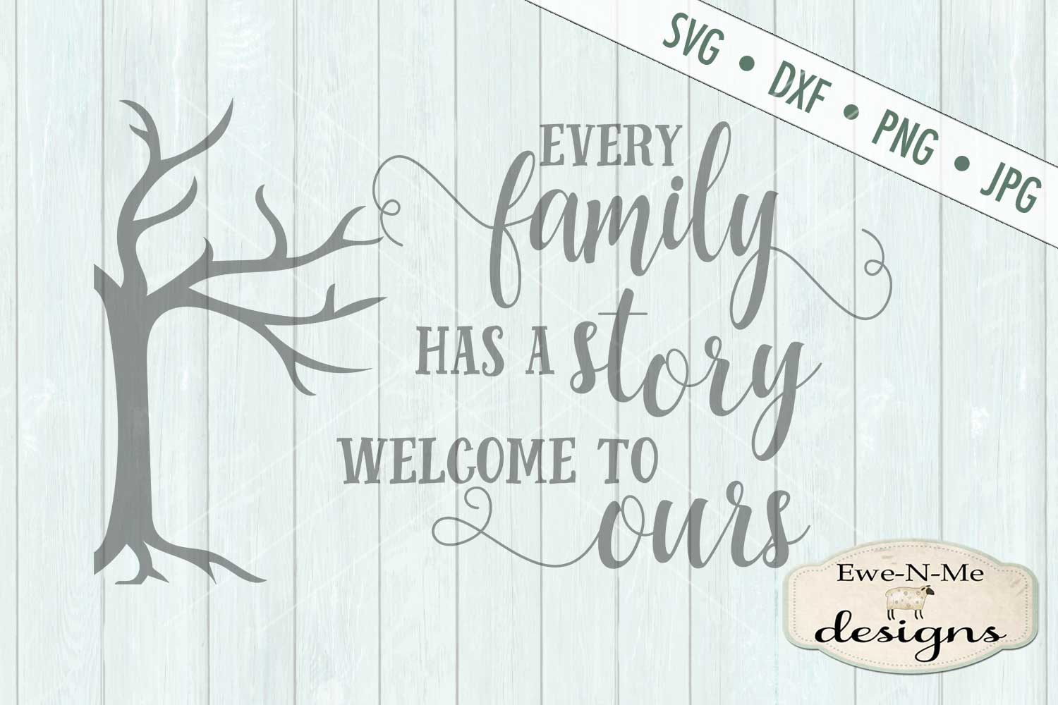 Every Family Has a Story - Family Tree - SVG DXF Files example image 2