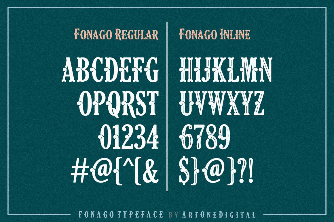 Fonago typeface 04