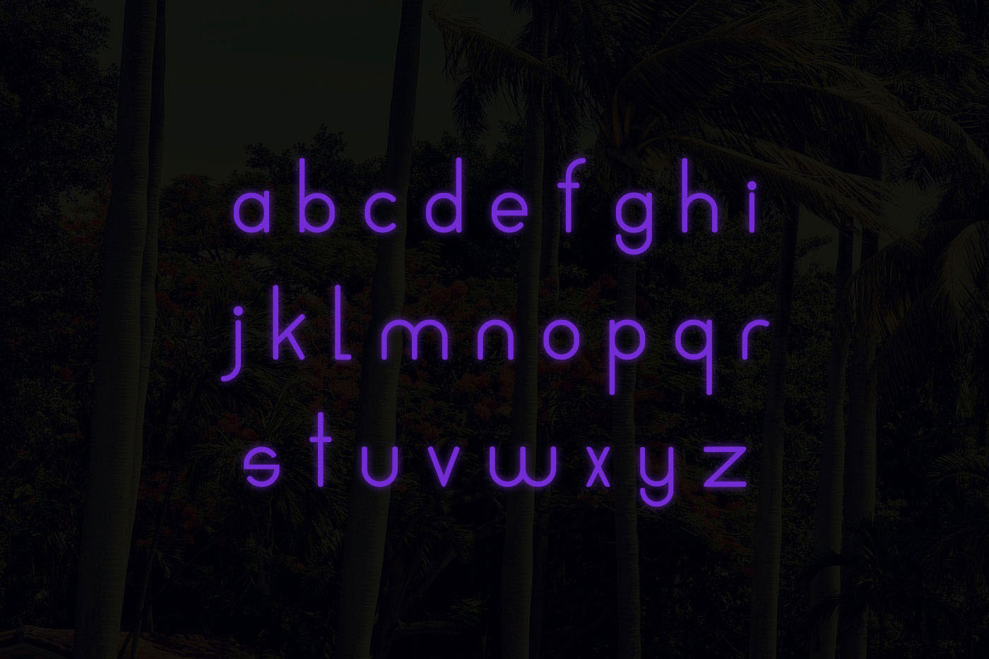 Neons display typeface example image 3