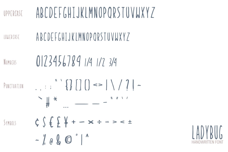 Ladybug Handwritten Font example image 4