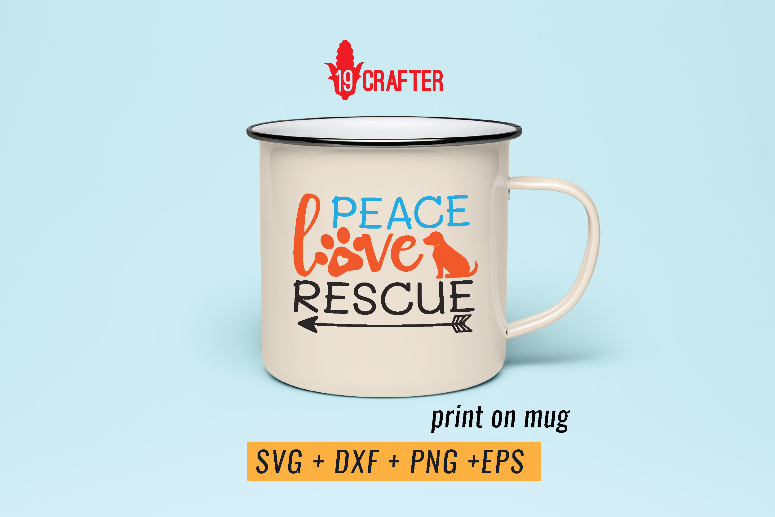 peace love rescue animal svg cut file example image 4