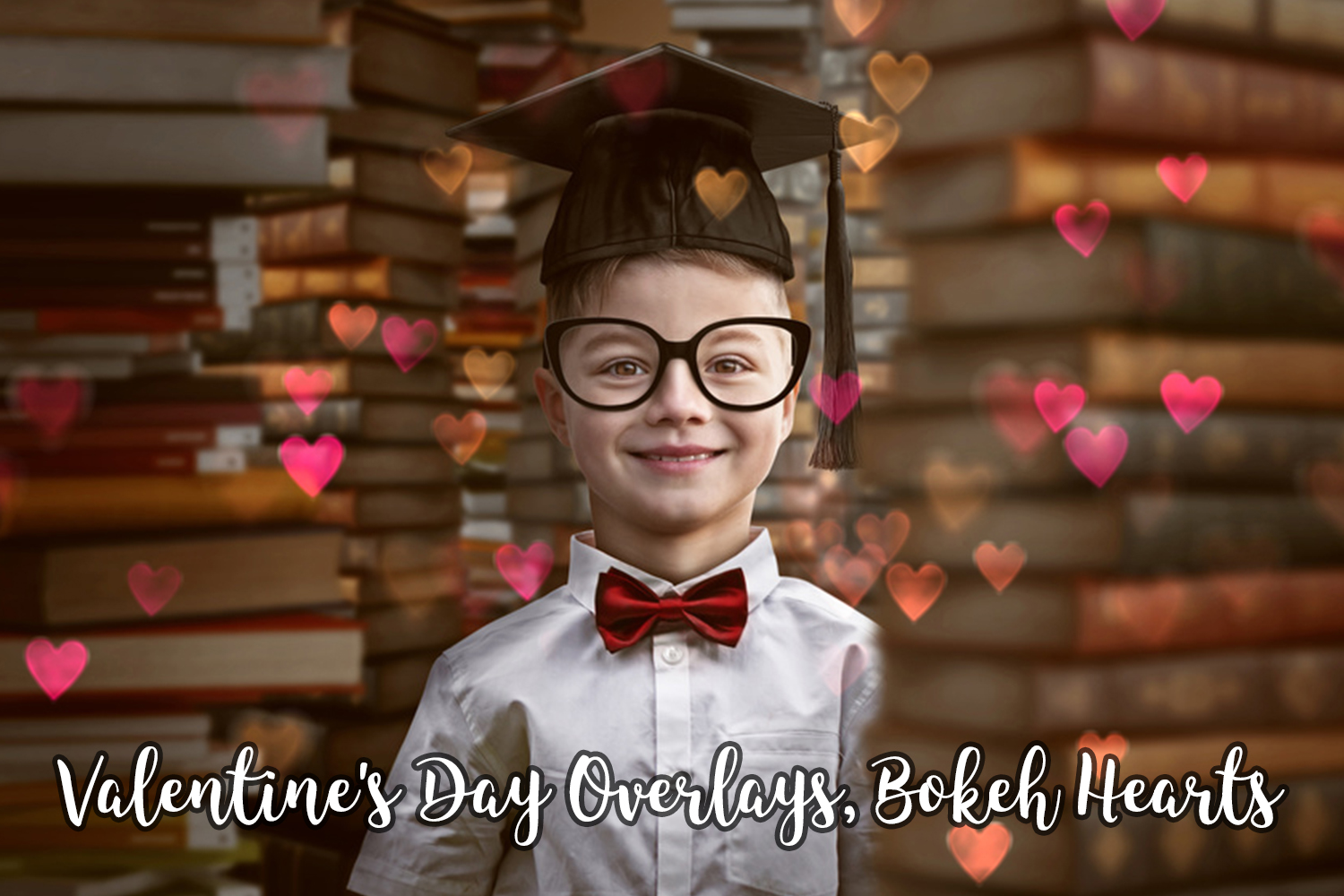 Valentine's Day Overlays, Bokeh Hearts Overlays example image 6