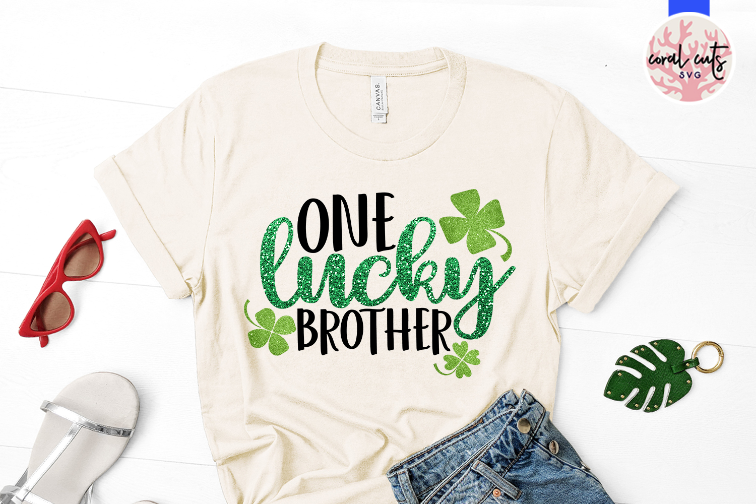 One lucky brother - St. Patrick's Day SVG EPS DXF PNG example image 2