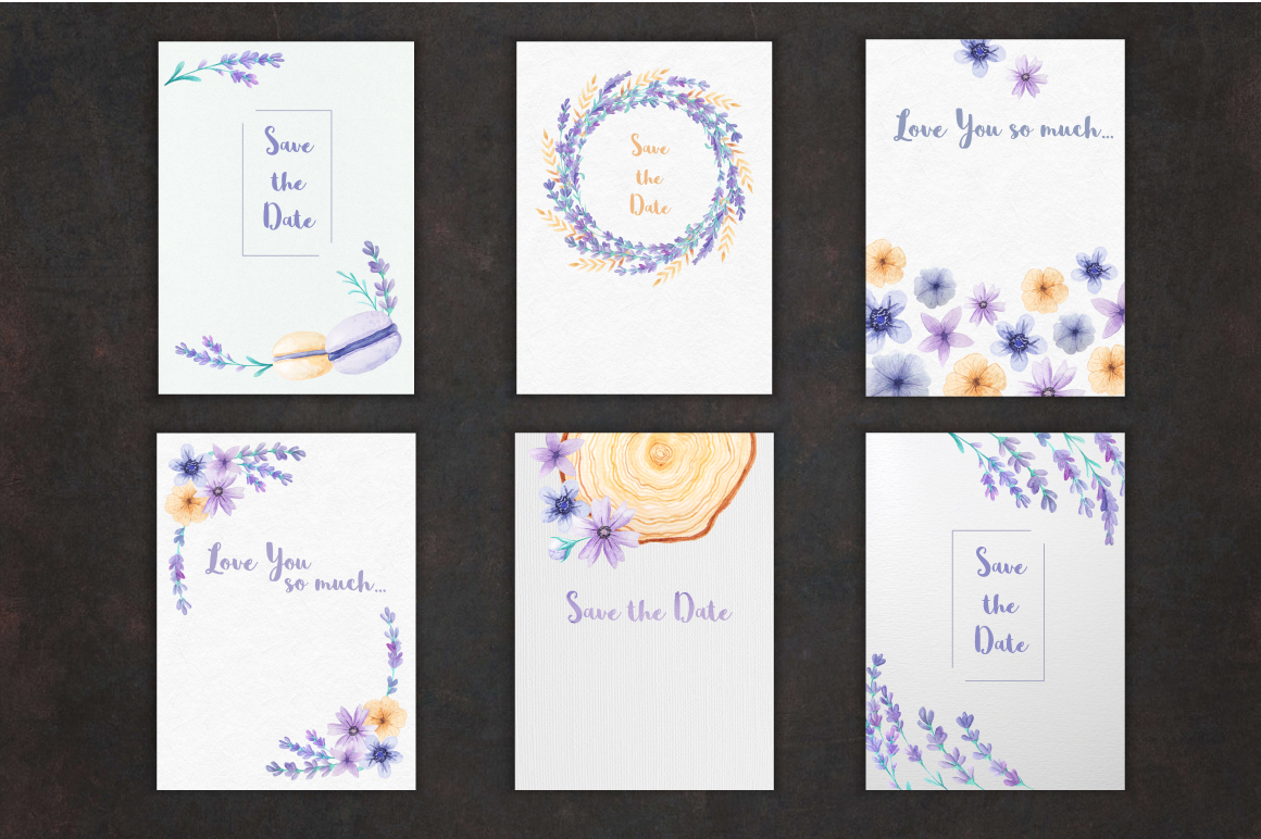 Lavender Wedding Card Set example image 2
