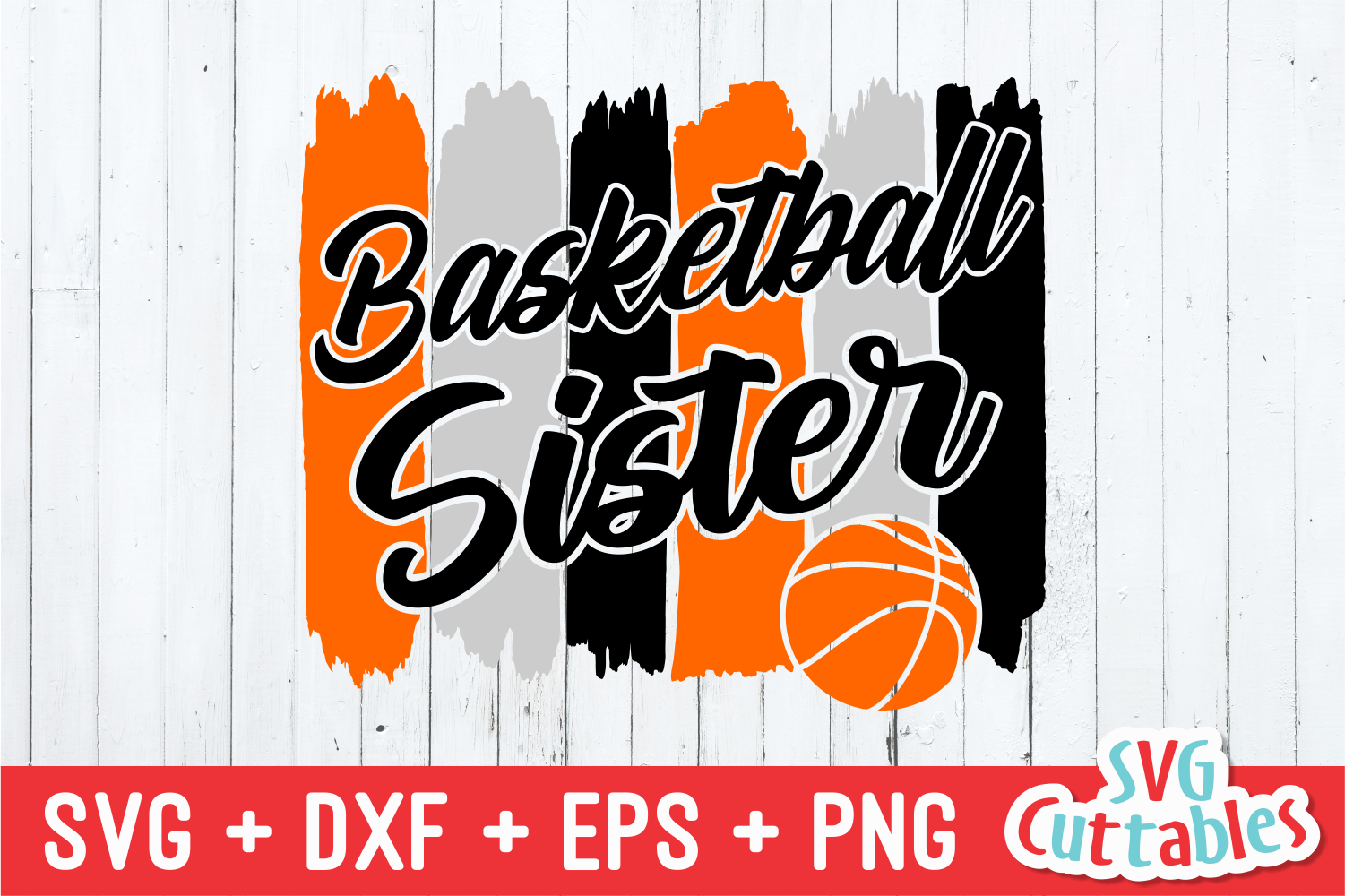 Basketball Sister | SVG Cut File example image 2