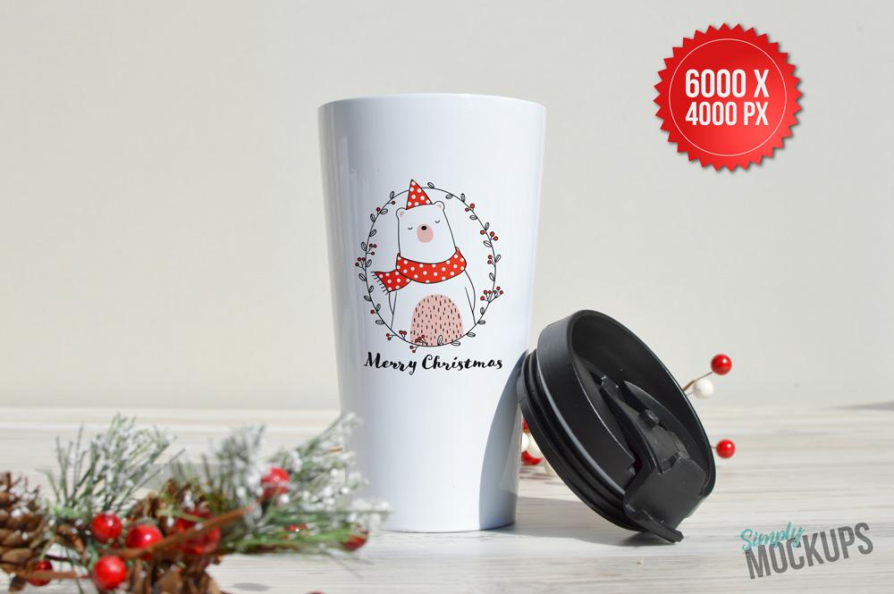 16oz Travel Mug Holiday Mockup example image 2