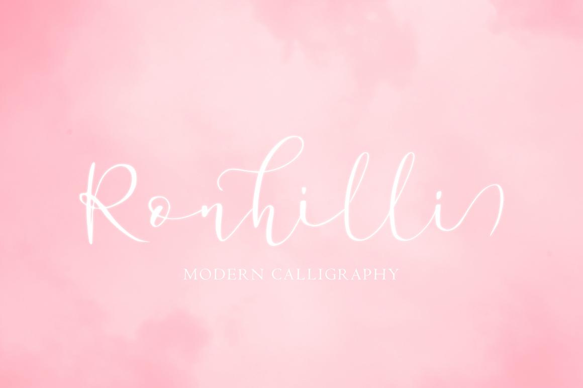 Ronhilli Script Font example image 12