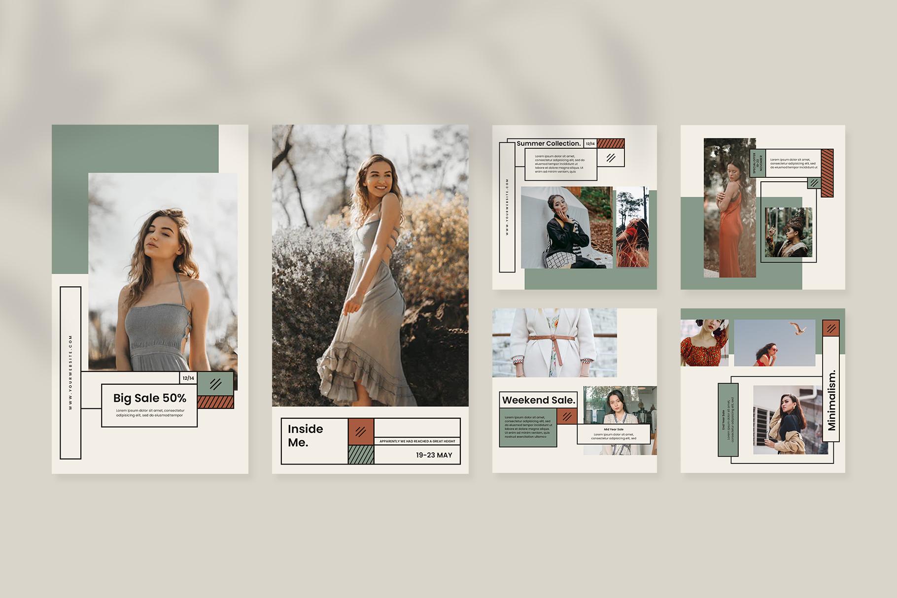 Fashion Instagram Templates example image 7