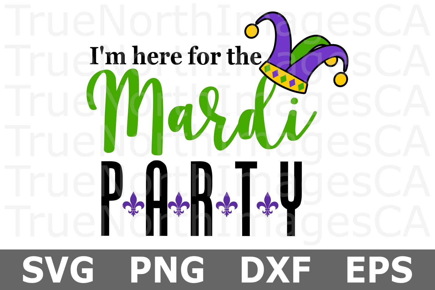 Mardi Party - A Mardi Gras SVG Cut File example image 1