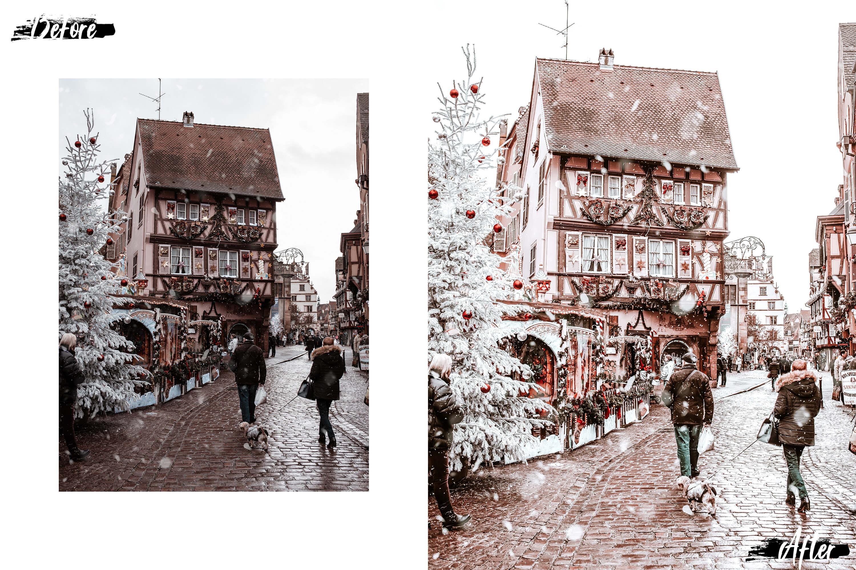 10 Winter Wonderland Mobile Lightroom Presets, Xmas photo example image 9