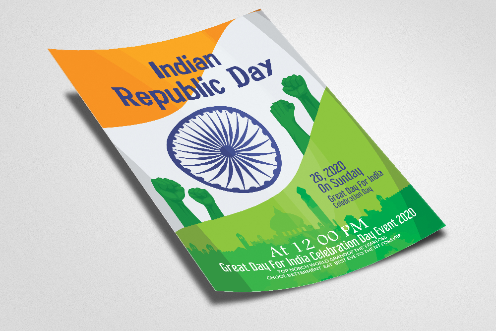Indian Republic Day Celebration Flyer/Poster example image 2