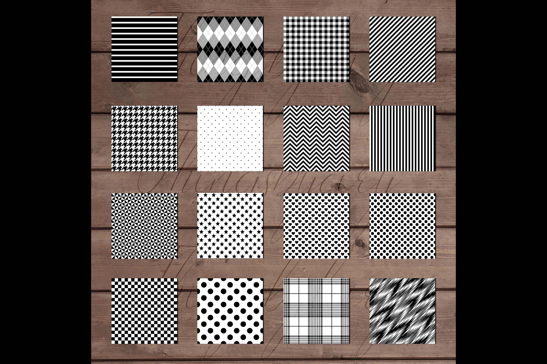 30 Seamless Black & White Basic Common Home Decor Patterns example image 8
