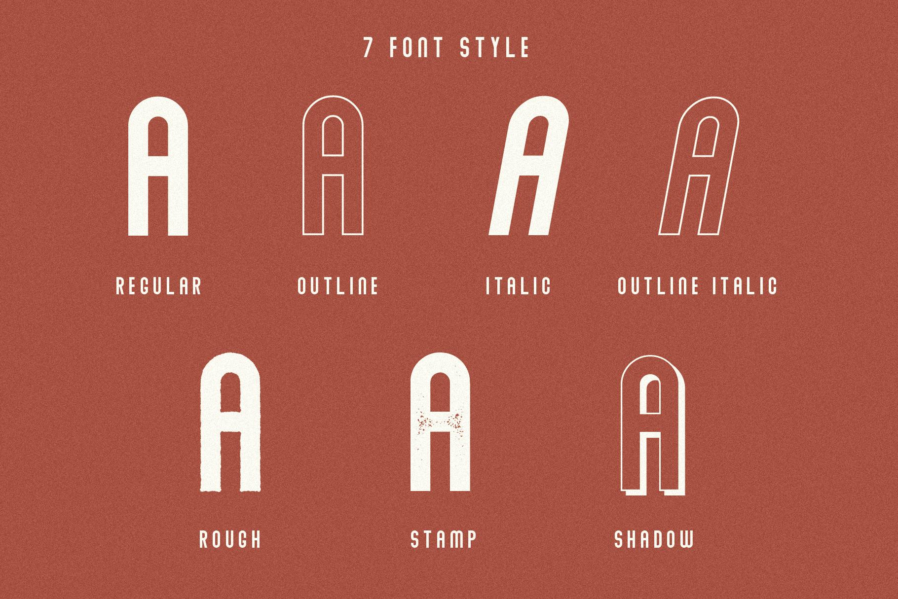 Abraham Font Family 7 Style Fonts example image 2