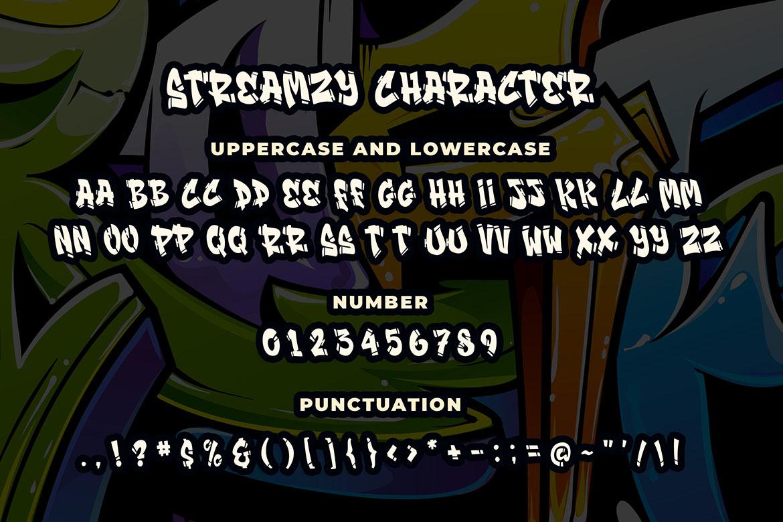 Streamzy - Graffiti Font example image 5