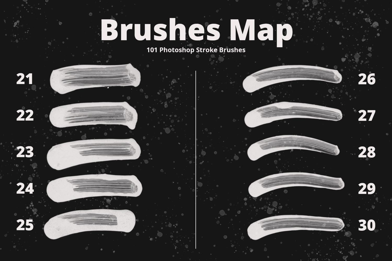 101 Photoshop Paint Stroke Brushes example image 5