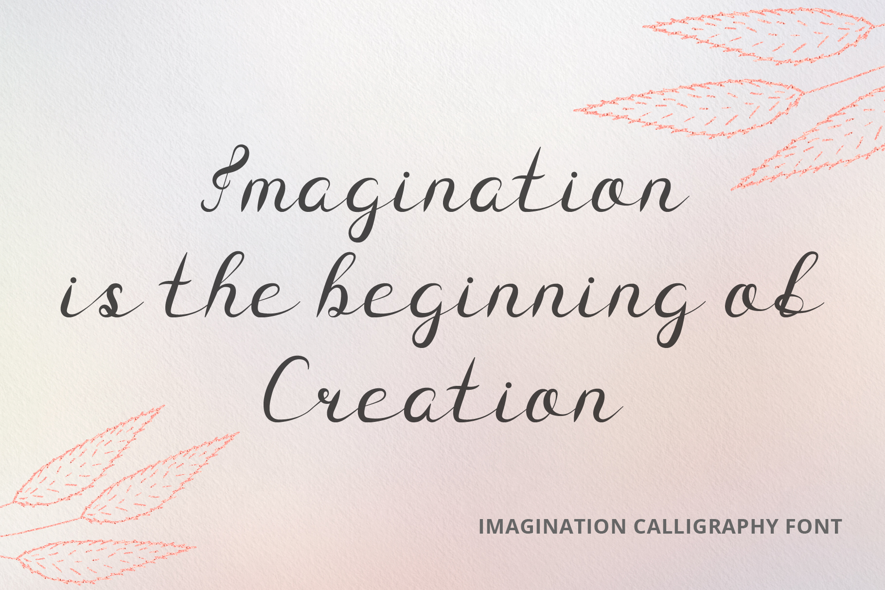 Imagination Calligraphy Font example image 2