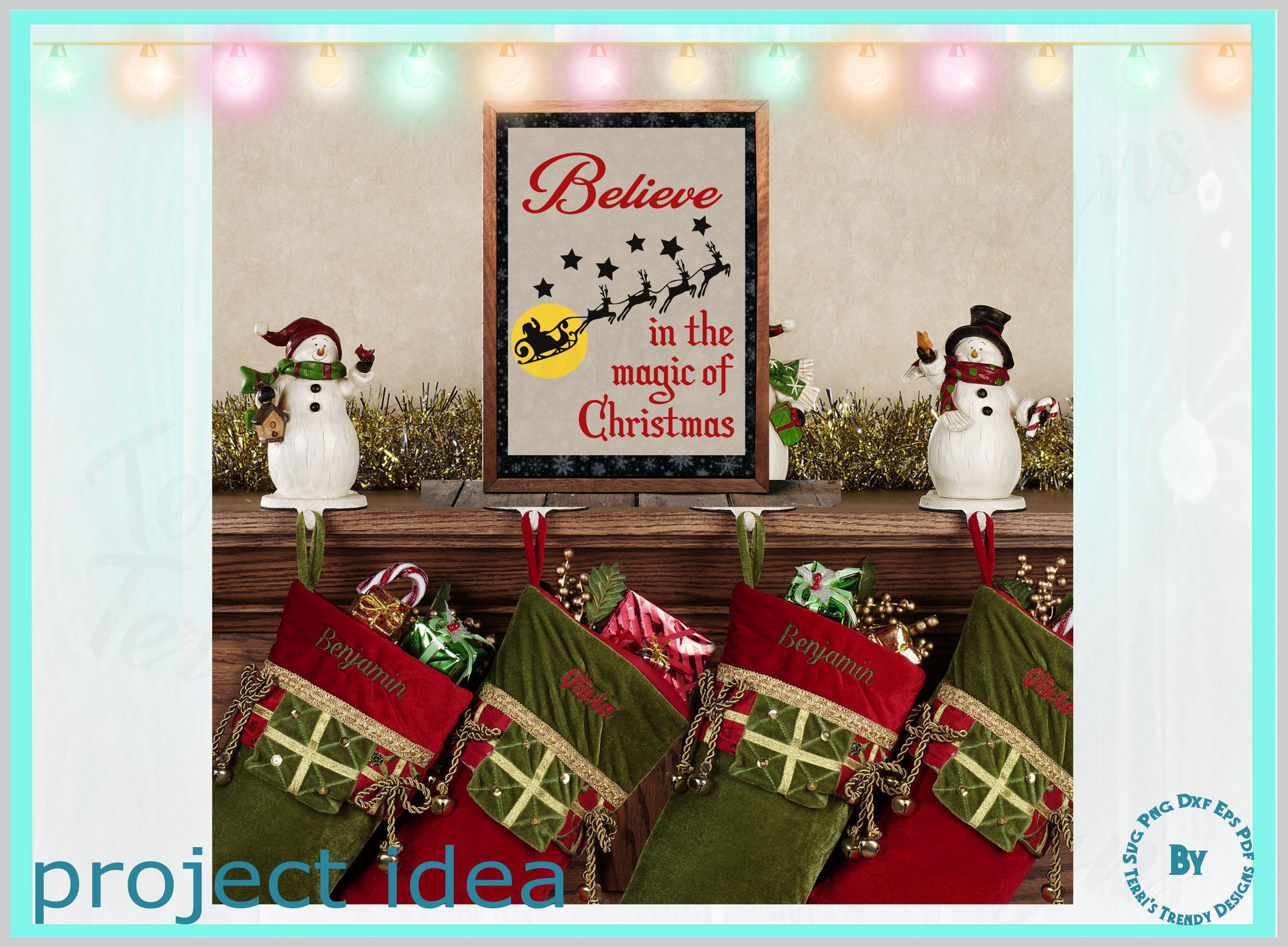Believe in the magic of Christmas Santa and reindeer quote example image 4