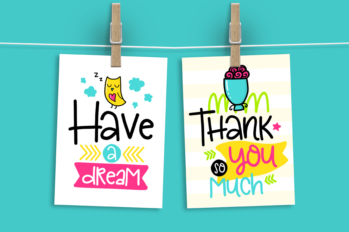 36 Funny Lettering Cards Collection! example image 5