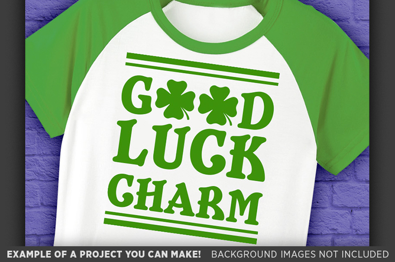 Good Luck Charm SVG - Kids St. Patricks Day - 1075 example image 3