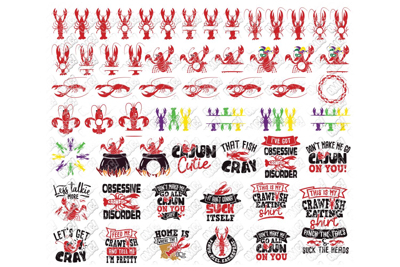 Crawfish Svg Bundle Monogram In Svg Dxf Png Eps Jpg