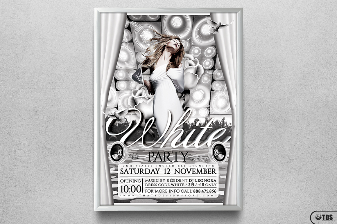 White Party Flyer Template V1 example image 6