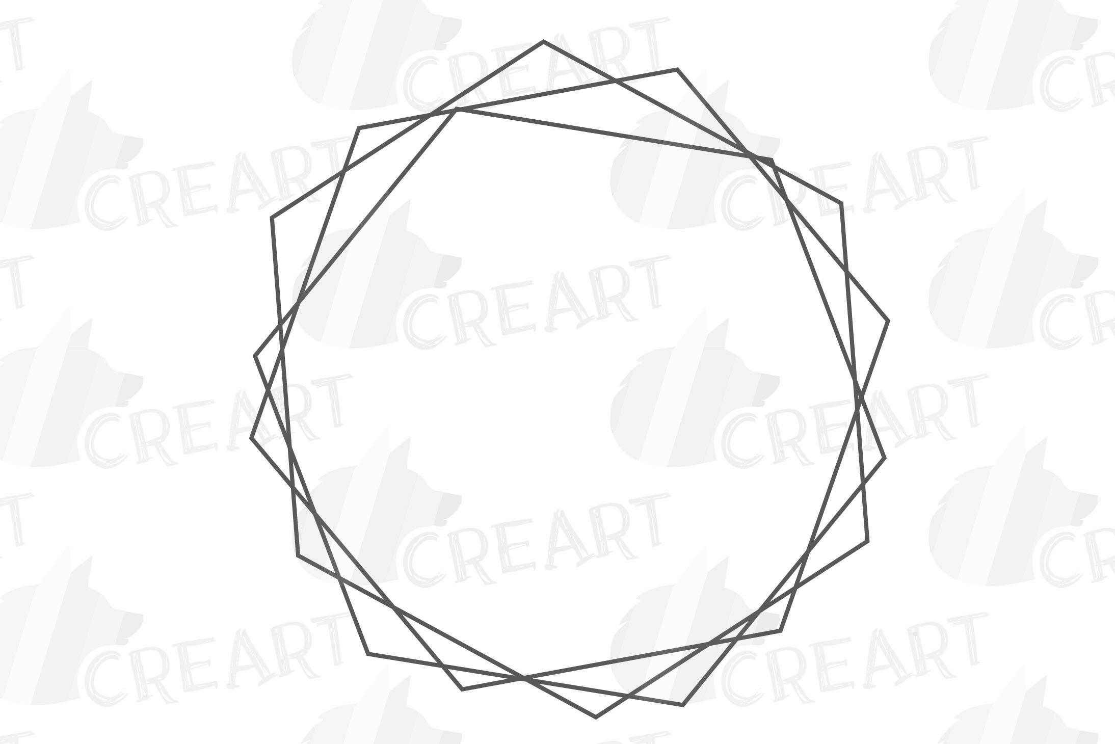 Geometric lineal black frames decor clip art. Wedding border example image 12