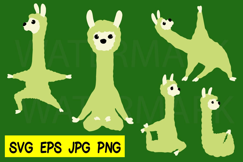 Llama Yoga 5 designs - SVG-EPS-JPG-PNG example image 1